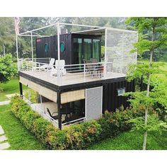 Looking for how to renovate shipping container into house, Shop, Garage or Workshop? Here are extensive shipping Container Houses Ideas for you! shipping container homes Building A Container Home, Container Buildings, Container Architecture, Container House Plans, Architecture Design, Container Van, Cargo Container Homes, Container Home Designs, Future House
