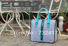 2087 fashion felt handbag high quality felt shoulder bag  solid felt women/men handbag $50.00