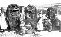 New Years Mummers in Manchuria