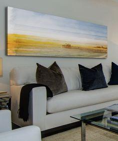 Look at this #zulilyfind! Malibu Pier Gallery-Wrapped Canvas by Parvez Taj #zulilyfinds