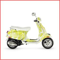 I'd like a Vespa that speaks of sunshine, happiness and smiles... favorite color! #ridecolorfully