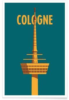 Cologne als Premium Poster von Designliga Products | JUNIQE