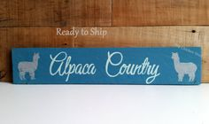 Alpaca Sign Alpaca Country Farm Sign Wood Sign by TheChickenStudio