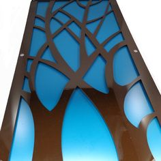 Branch Acrylic and Recycled Aluminum in brown and teal by mannmadedesigns on Etsy