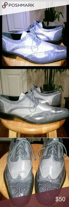 LIKE NEW CONDITION. Men's dress shoes EUC  These shoes are so sharp!  In excellent condition.  Worn once for a wedding.  Original box included. Fortune from Liberty Shoes Oxfords & Derbys