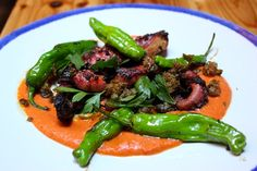 charred octopus from
