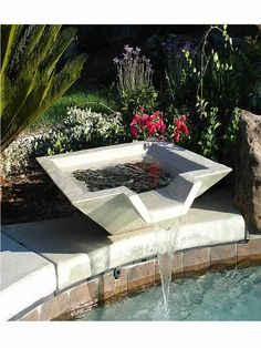 A wonderful, light weight material makes this modern and contemporary fountain bowl. Please NOTE: This fountain bowl is not plumbed, allowing you to decide which side your plumbing will need to come i