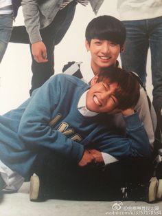 Jung Kook and Taehyung