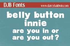 Check out DJB Belly Button Innie by Darcy Baldwin on Creative Market