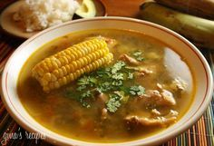 Colombian Chicken Sancocho - Sancocho is a hearty soup, almost like a stew and is a traditional dish in the region of Antioquia, Colombia.