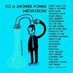 Meditation while cleansing...consciously make an intention that u wl release the pieces of soul that u hv accumulated from the people u hv come across in the day and the pieces of your soul that they hv taken of u, wl return to u. Hence balancing the chakras. N remember to close the aura in d end. Carma
