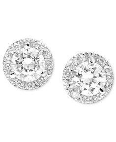 Diamond Earrings, 14k White Gold Margarita Diamond Stud Earrings (1/2 ct. t.w.)