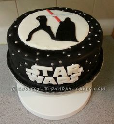 Grown Up Star Wars Cake for a Self-Confessed Geek ... This website is the Pinterest of birthday cakes