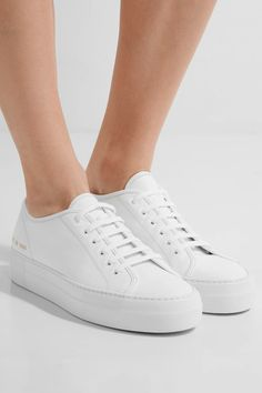 Rubber sole measures approximately 40mm/ 1.5 inches White leather Lace-up front Made in Italy
