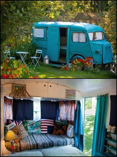 This Old Bread Van is Converted into a Guest Bedroom. And it's Heated and Has Wi-Fi Too
