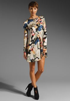 ELIZABETH AND JAMES Rose Suvi Dress in Black Multi at Revolve Clothing - Free Shipping!