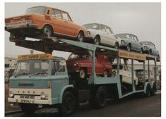 Ford D Series Truck loaded with Skoda and Skoda Octavia Combis Classic Trucks, Classic Cars, Love Car, Commercial Vehicle, Car Ins, Old Cars, Cars And Motorcycles, Volkswagen, Ford