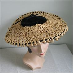 Vintage 1960s Juli Kay Chicago Wide Brimmed by LessThanPerfect