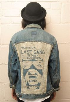 Vintage Levi denim jacket with Customised back