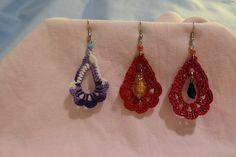 Petal earrings by TheKnitterInMimi #crochet