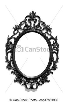 Photo - isolé, noir, Victorien, classique, miroir, cadre - image, images, photo libre de droits, photos sous licence, photographie, photographies, graphique, graphiques