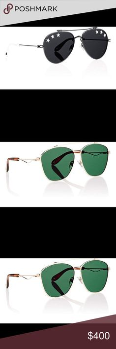 Men's fashion sunglasses Sunglasses are constructed of polished pale-goldtone metal. Oversized round shape. Brow bar. Transparent nose pads. Looped detail at temples. Teardrop-shaped cutout at tortoiseshell acetate temple tips. Gold mirrored lenses. 62mm eye size. 17mm bridge size. 145mm temple size. Available in Pale Goldtone. Metal. Made in Italy. Accessories Sunglasses