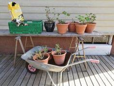 kaffegrutprosjektet gjoedsling Wheelbarrow, Garden Tools, Yard Tools