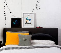 New linen company I discovered via the DesignLoveFest blog. They have lots of geometric patterns.
