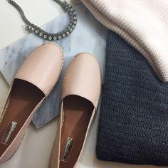 Blush Leather Espadrilles Details: • Size 9.5 • Leather • Brand new in box Halogen Shoes Espadrilles