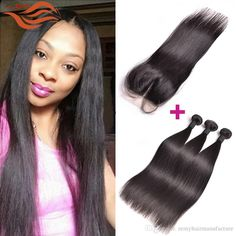Brazilian Virgin Straight With Closure Unprocessed Brazilian Straight Hair 3 Bundles With Closure Mink Brazilian Human Hair Weave Brazilian Straight Hair Straight Hair 3 Bundles With Closure Brazilian Human Hair Weave Online with $313.58/Piece on Remyhairmanufacture's Store | DHgate.com