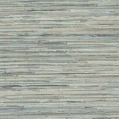 Blue Grey Faux Grasscloth Wallpaper NT33703 - All 4 Walls Wallpaper