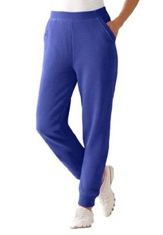 Woman Within Plus Size Pants, Sweats With Rib Cuffs In Fleece Woman Within. $16.99