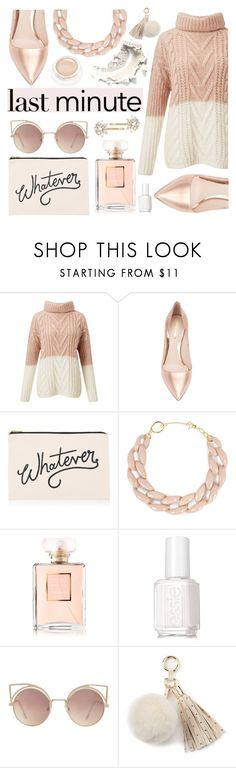 """""""Untitled #3052"""" by deeyanago ❤ liked on Polyvore featuring Miss Selfridge, Nicholas Kirkwood, ALPHABET BAGS, DIANA BROUSSARD, Chanel, Essie, MANGO, Juicy Couture, Trina Turk and Holidaygifts"""