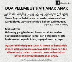 Doa to soften a child's heart. Last ayat of surah Al-imran Hijrah Islam, Doa Islam, Reminder Quotes, Self Reminder, Islamic Inspirational Quotes, Islamic Quotes, Pray Quotes, Muslim Religion, Definition Quotes