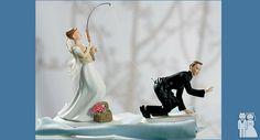 Florida fishing wedding cake toppers