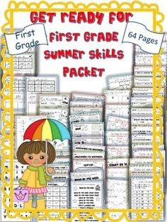 So your child has graduated from kindergarten! It's summer and you don't want to lose all that he/she has learned.  This is a fun, interactive summer skills packet that will help them maintain all they have learned in kindergarten and get them ready for first grade!
