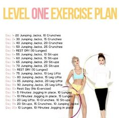 Level one daily exercise plan