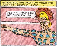 Magic shaman jungle magick medicine man retro vintage bone doctor comic book pop up art illustration