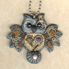 Steampunk Hooty Owl Necklace by freeheart1 @ Etsy     ....... by longyly