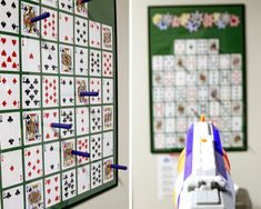 Looking for a royal flush activity for your casino themed birthday party? How about Nerf Poker. It's poker, but instead of being dealt a hand, each player Casino Party Games, Casino Night Party, Casino Theme Parties, Game Party, Party Themes, Party Ideas, Themed Parties, Game Night Decorations, Casino Party Decorations