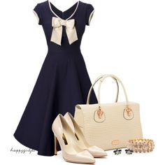 Navy and Cream Okay and this is too perfect for me. I could almost dress as Sailor Moon in this outfit.... :P