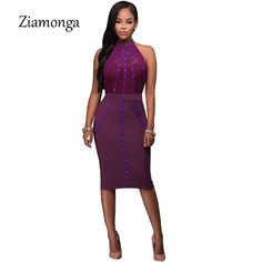 Ziamonga Autumn Women Slim Sexy Pencil Mesh Dress Casual Sleeveless Bandage Midi  Dresses Female Office Clothing 40c1ad68438c