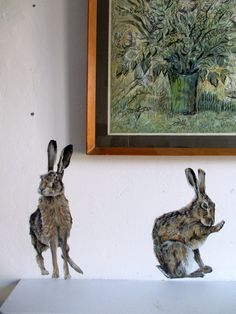 Wall sticker hare woodland animal wall decals by SmockBallpoint