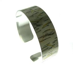 Recycled silver, Handmade bar necklace. Design inspired by the bark of silver birch trees.