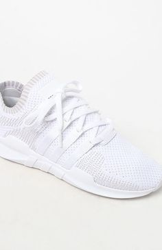 brand new 5e78f 25b6a adidas EQT Support Adv Primeknit White Shoes at PacSun.com