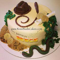 Indiana Jones Themed #Cake 2nd Birthday Parties, Boy Birthday, Birthday Ideas, Camping Birthday Cake, Birthday Cakes, Indiana Jones Cake, Food Themes, Creative Cakes, Themed Cakes
