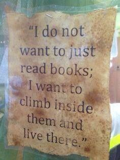 I don't want to just read books