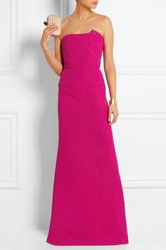 Roland Mouret|Calcott wool-crepe gown|NET-A-PORTER.COM #blacktiedress #rolandmouret #blacktie #women #designer #covetme