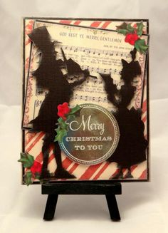 Tim Holtz Victorian Carolers by genealogyjody - Cards and Paper Crafts at Splitcoaststampers