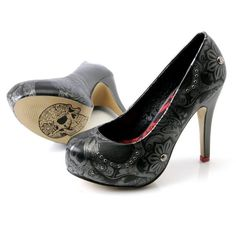 Fancy - Iron Fist Sweet Skull O Mine Platform Heel Shoes   Iron Fist Womens Footwear